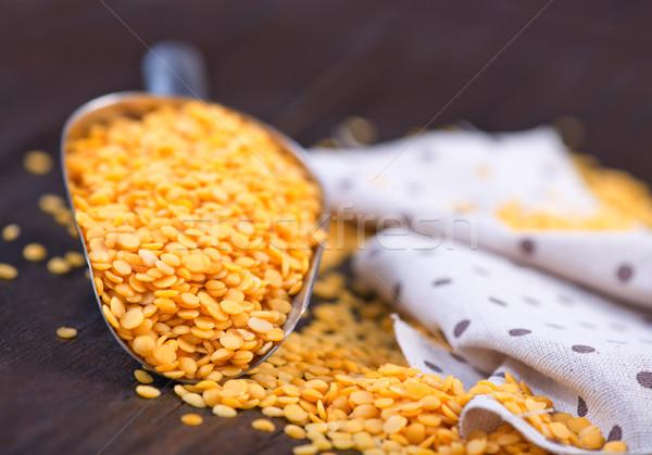 yellow lentil Stock photo © tycoon