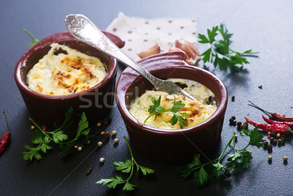 卵 サワークリーム ボウル 食品 朝食 ストックフォト © tycoon