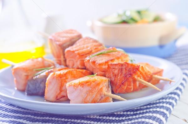 Lazac kebab étel narancs vacsora piros Stock fotó © tycoon
