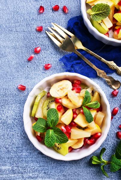 フルーツサラダ ボウル 表 新鮮な サラダ リンゴ ストックフォト © tycoon