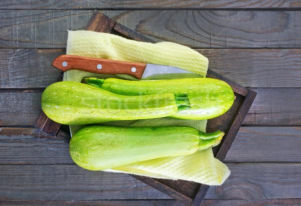 raw zucchini Stock photo © tycoon