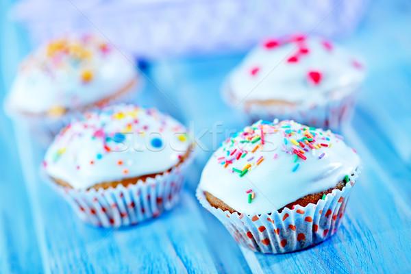 Csésze torta asztal édes étel szeretet Stock fotó © tycoon
