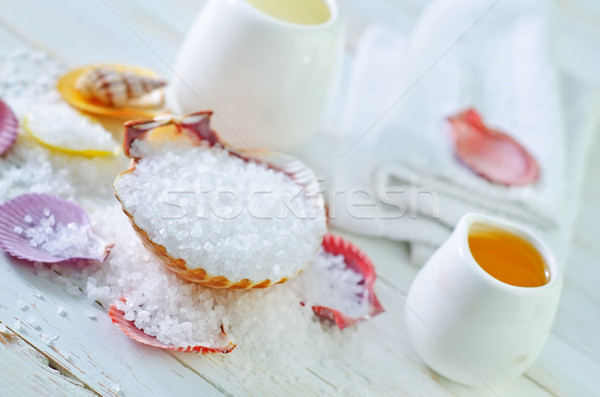 Zeezout melk ontspannen olie spa bad Stockfoto © tycoon