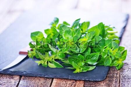 ハーブ 木板 表 草 緑 ストックフォト © tycoon