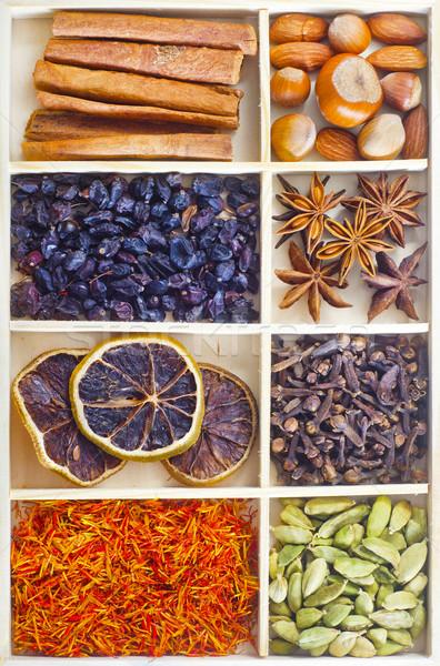 Aroma fűszer fa indiai virágcsokor mag Stock fotó © tycoon