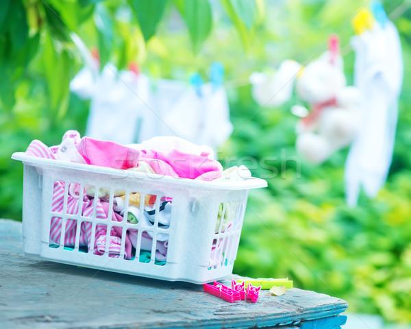 Baby kleding tuin familie kind winkelen Stockfoto © tycoon