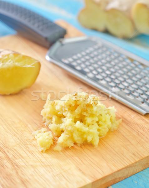Gyömbér étel gyümölcs gyógyszer szín növény Stock fotó © tycoon