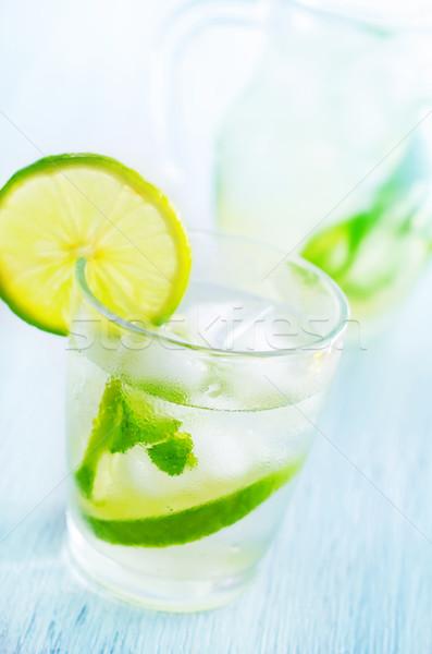Mojito fundo gelo tabela beber batedeira Foto stock © tycoon
