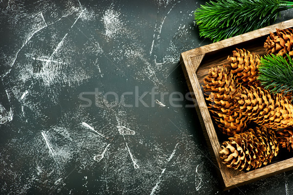 Noel dekorasyon şube tablo ahşap dizayn Stok fotoğraf © tycoon
