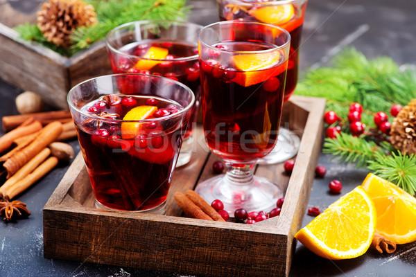 Noel içmek lezzet baharat tablo ağaç Stok fotoğraf © tycoon