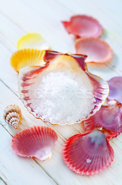 sea salt and shells Stock photo © tycoon
