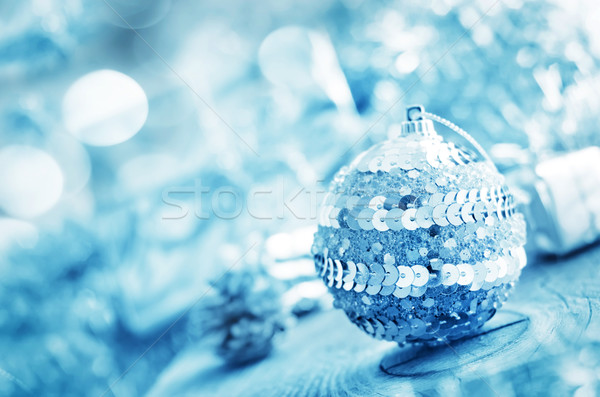 silver ball and other cristmas decoration. Stock photo © tycoon