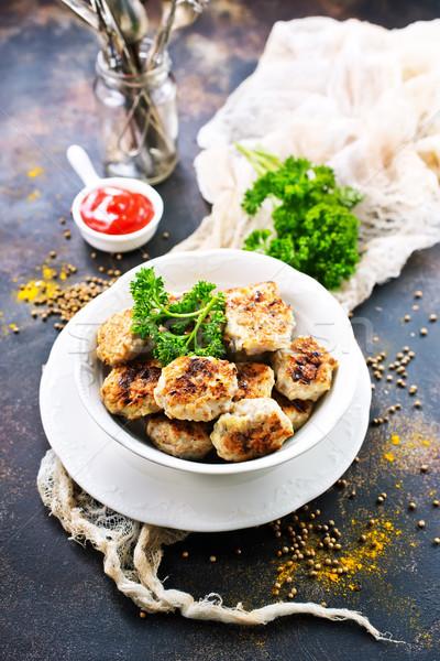 Kom tabel voorraad foto keuken olie Stockfoto © tycoon