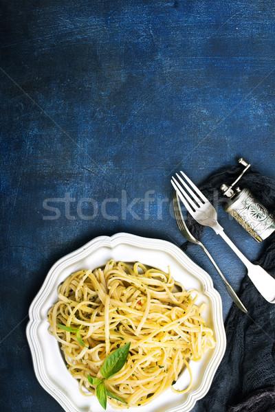 Pesto salsa alimentare foglia formaggio Foto d'archivio © tycoon