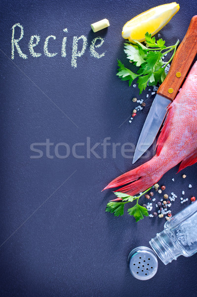óceán étel hal olaj kő sötét Stock fotó © tycoon