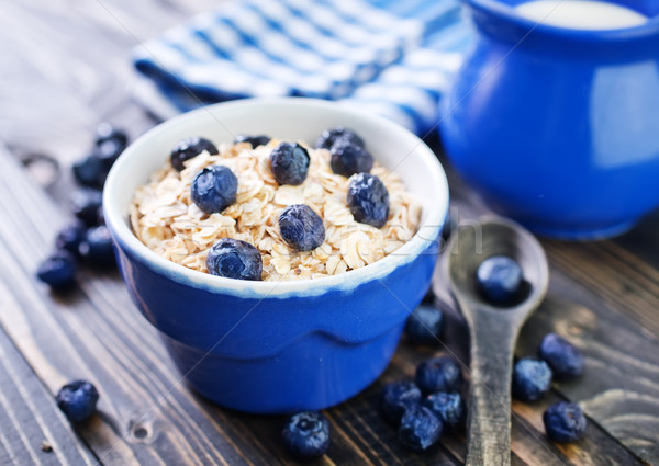 oat flakes with blueberry Stock photo © tycoon
