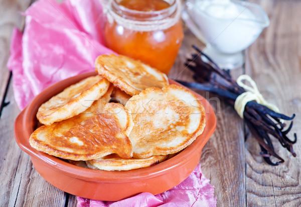 Foto stock: Tazón · mesa · vidrio · desayuno · tenedor