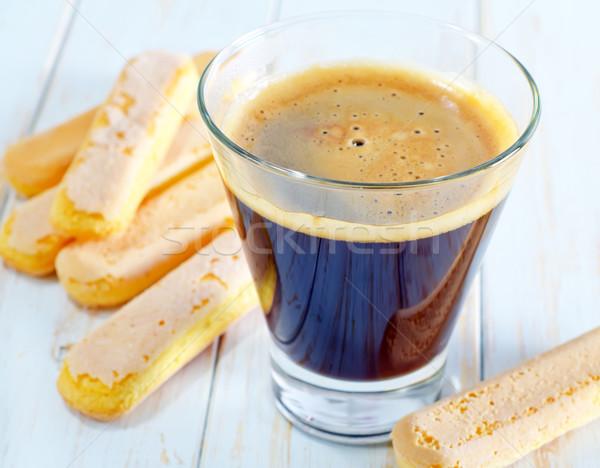 coffee and savoyardi Stock photo © tycoon