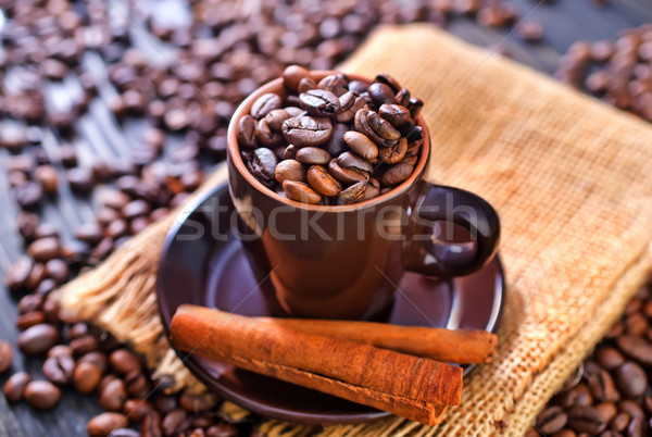 Koffie voedsel achtergrond plaat zwarte kleur Stockfoto © tycoon