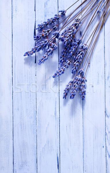 Lavendel Tabelle abstrakten Design Blatt Raum Stock foto © tycoon