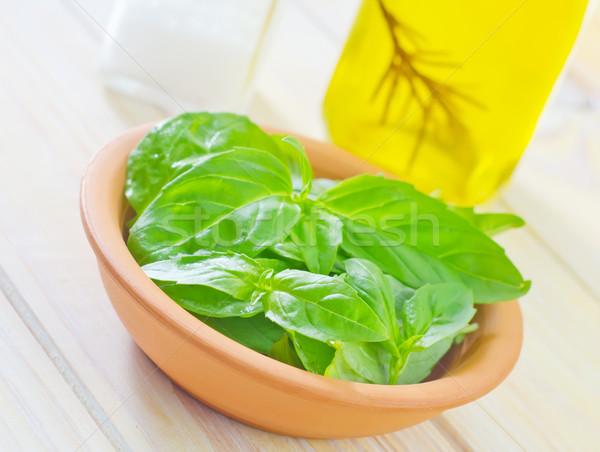 Stock fotó: Friss · bazsalikom · étel · levél · kert · egészség