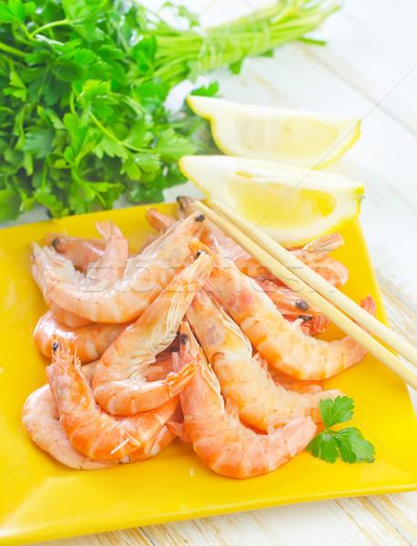 Comida verde vermelho limão copo branco Foto stock © tycoon