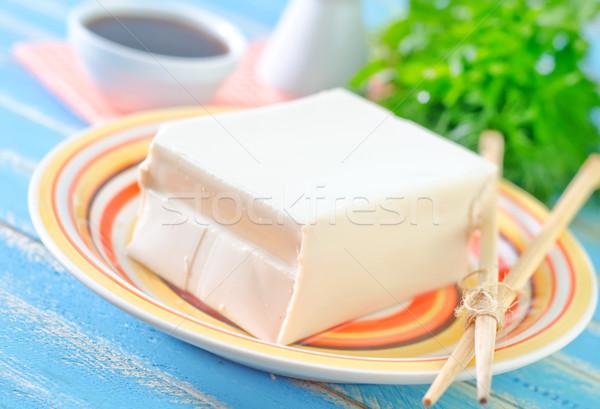 Tofu sajt háttér ázsiai japán szakács Stock fotó © tycoon