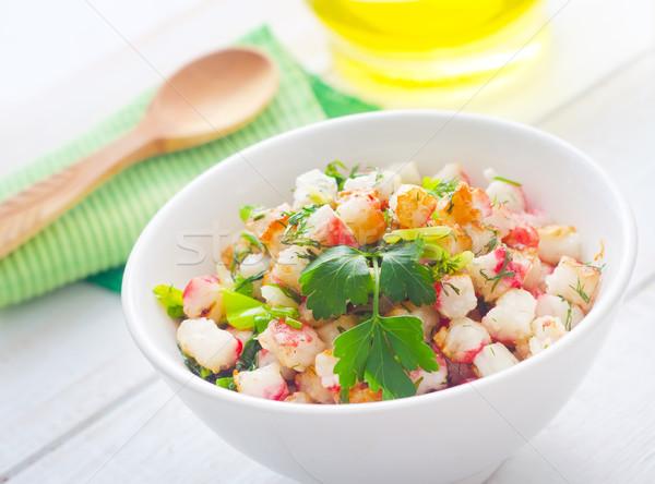 新鮮な サラダ 菜 シーフード 魚 レストラン ストックフォト © tycoon