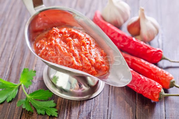 Salsa de tomate alimentos rojo tomate cocina estudio Foto stock © tycoon