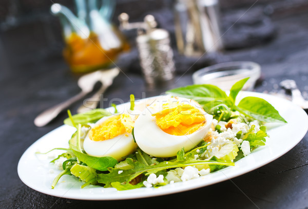 bulgur with vegetablew and eggs Stock photo © tycoon