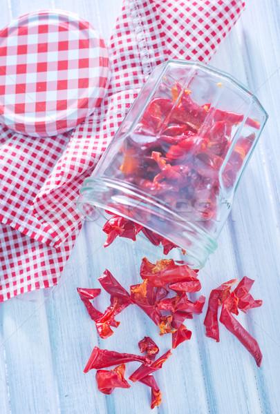 Secar pimienta fondo cocina mesa blanco Foto stock © tycoon
