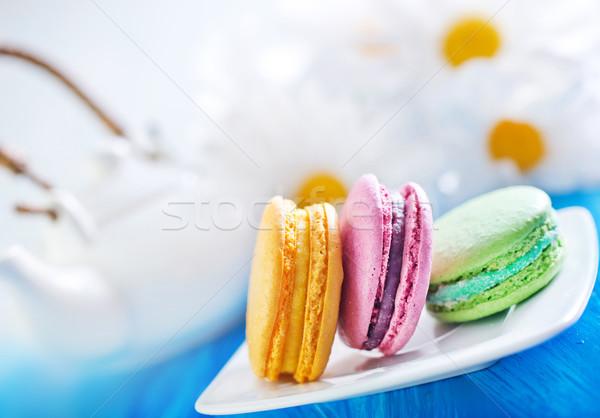 десерта розовый кремом сахар Cookie хлебобулочные Сток-фото © tycoon