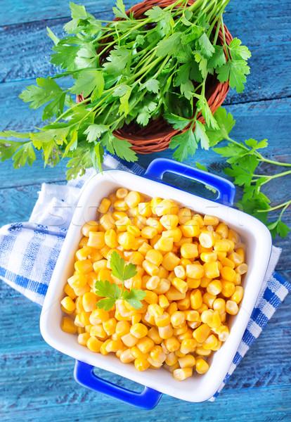 Csemegekukorica háttér fém konyha csoport növény Stock fotó © tycoon