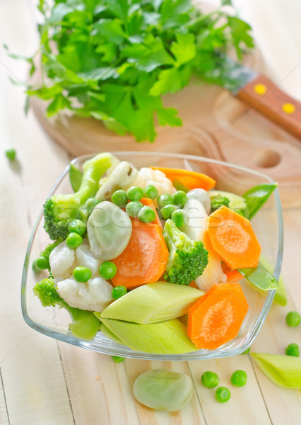 Сток-фото: овощей · кухне · красный · пластина · белый · приготовления