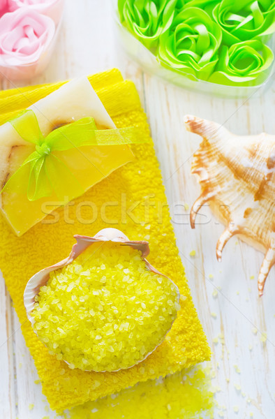 Deniz tuzu vücut turuncu tıp spa banyo Stok fotoğraf © tycoon