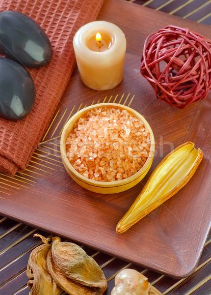 Sal marina cuerpo belleza humo medicina masaje Foto stock © tycoon