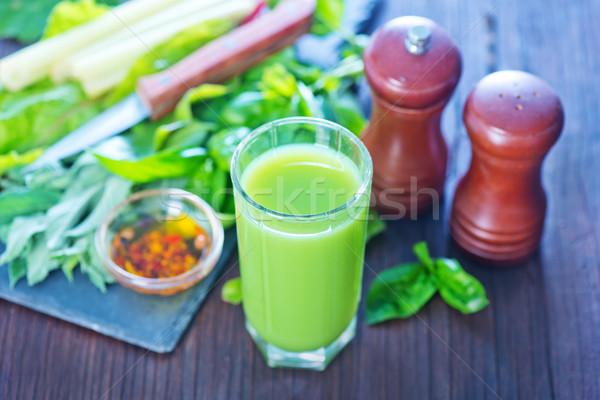 авокадо сока стекла таблице продовольствие фрукты Сток-фото © tycoon