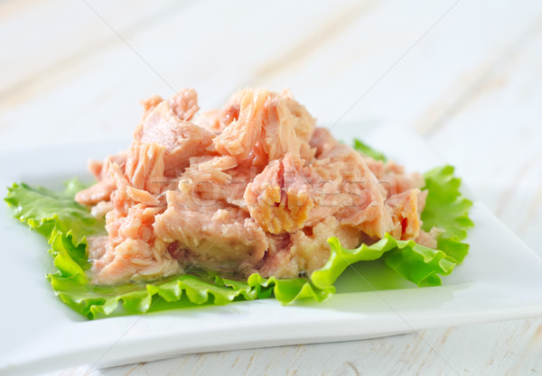 Ensalada ensalada de atún peces verde cena grasa Foto stock © tycoon