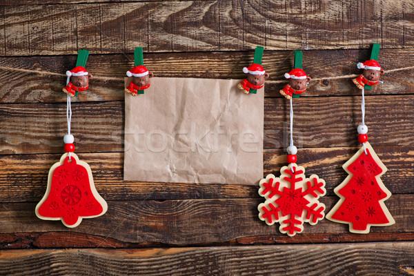 クリスマス 装飾 古い紙 注記 背景 手紙 ストックフォト © tycoon