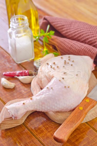 Huhn Bein stieg Fleisch Haut Kochen Stock foto © tycoon