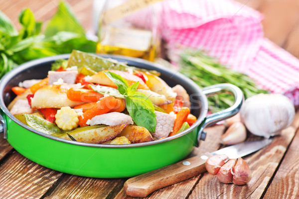vegetables and meat Stock photo © tycoon
