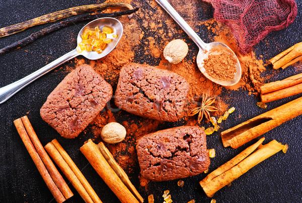 шоколадом торты Spice таблице продовольствие вечеринка Сток-фото © tycoon