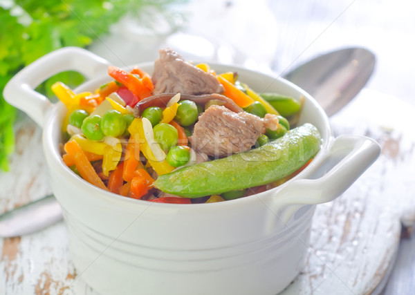 baked vegetables with meat Stock photo © tycoon