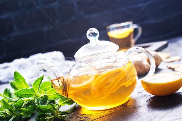 Gengibre de chá fresco tabela sol Foto stock © tycoon