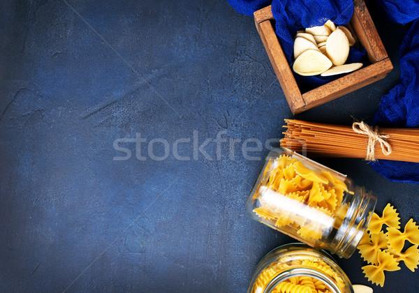 Stock fotó: Tészta · különböző · nyers · asztal · étel · csoport