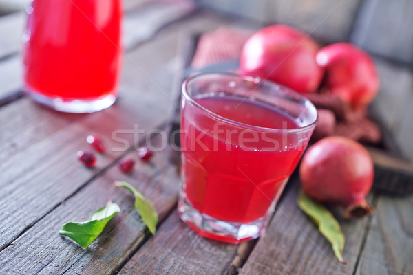Melograno succo fresche vetro tavola fiore Foto d'archivio © tycoon