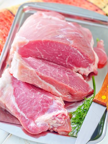 Foto stock: Crudo · carne · alimentos · cocina · cena · grasa
