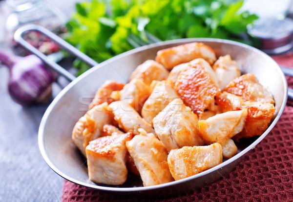 жареная курица ребенка груди пластина мяса столовой Сток-фото © tycoon