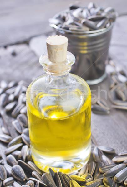 óleo de girassol projeto saúde fundo campo medicina Foto stock © tycoon
