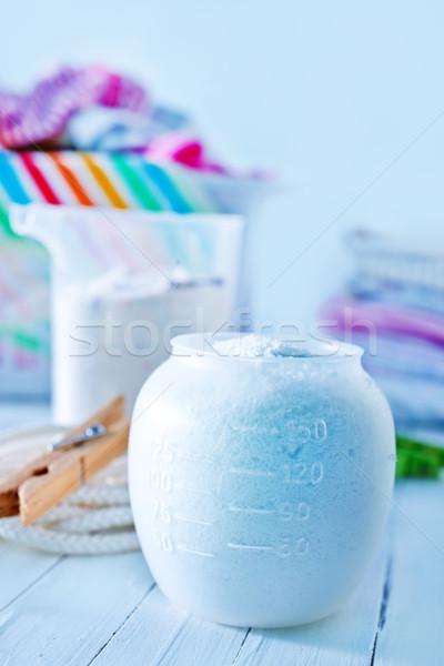 Deterjan çamaşırhane yıkayıcı ev kumaş banyo Stok fotoğraf © tycoon